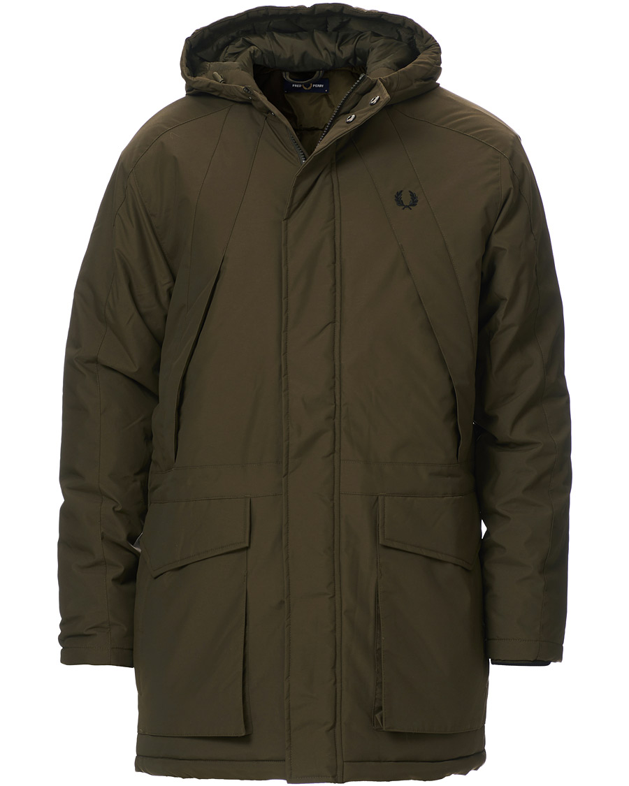 Fred Perry Padded Zip Parka Green S