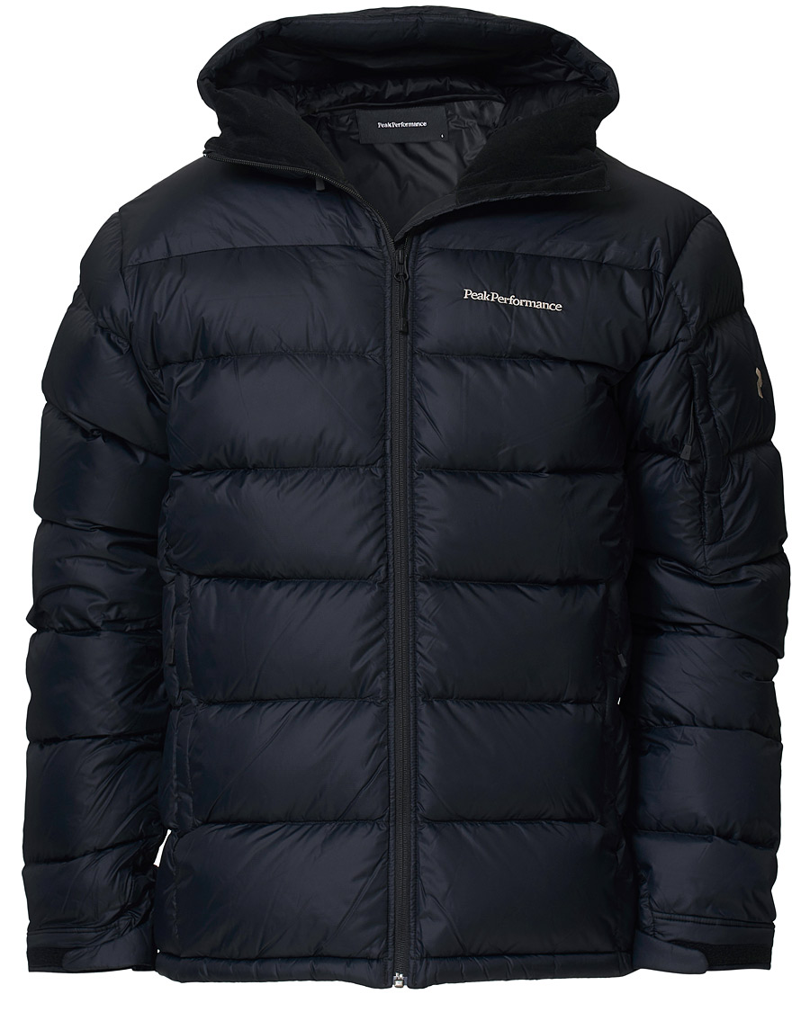 Peak Performance Frost Down Hooded Jacket Black M