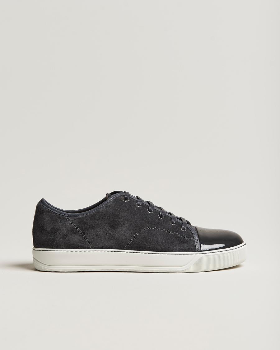 Lanvin Patent Cap Toe Sneaker Grey UK5 EU39