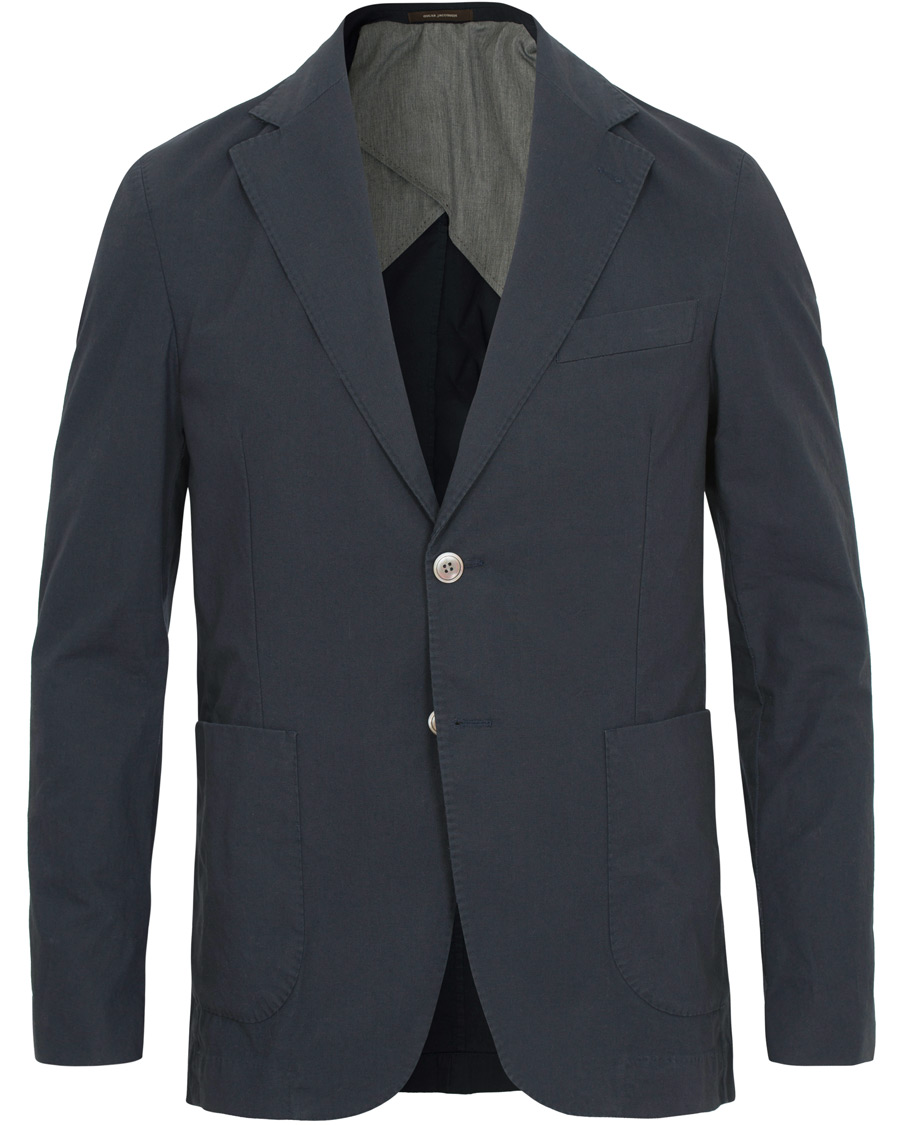 Oscar Jacobson Edgar Cotton Stretch Patch Pocket Blazer Blue hos