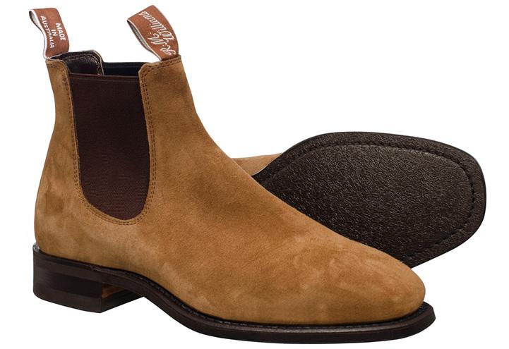 R.M.Williams Blaxland G Boot Suede Mid Brown