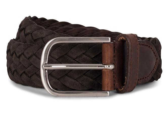 Flettet brunt belte