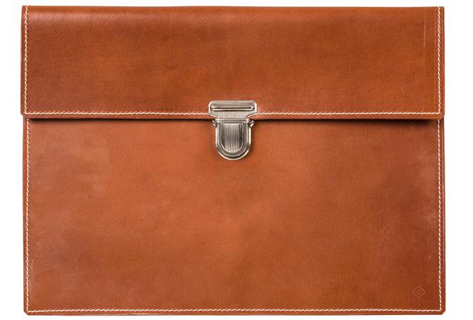 GANT Rugger Leather Slip Case Cognac