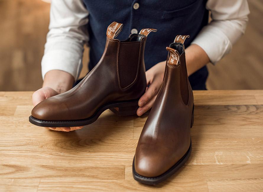 ta hand om skor