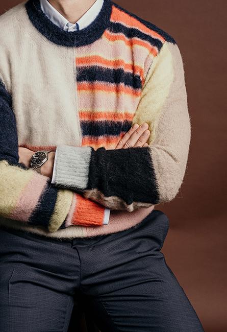 brun kavaj med scarf