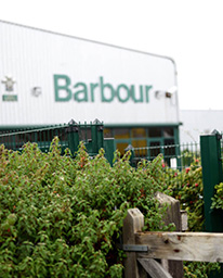 Besøg hos Barbour i Newcastle, England
