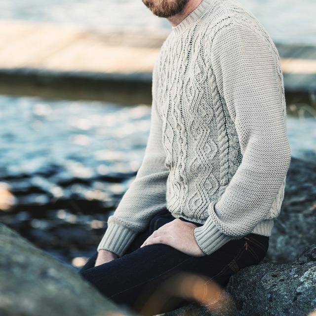 Den grovstickade tröjan