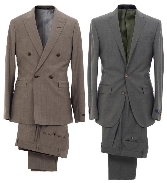 Dubbelknäppt kostym från Tiger of Sweden och tvåknäppt kostym i halv kanvas  från Polo Ralph Lauren. b25735b92d9f8