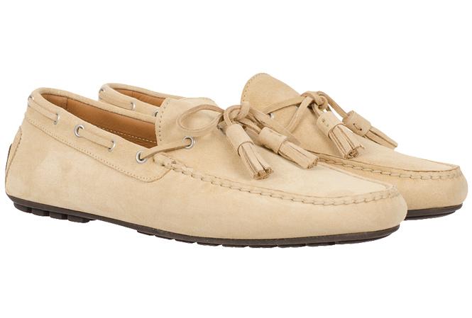 Ralph Lauren Black Label Harold Car Shoe Parchment