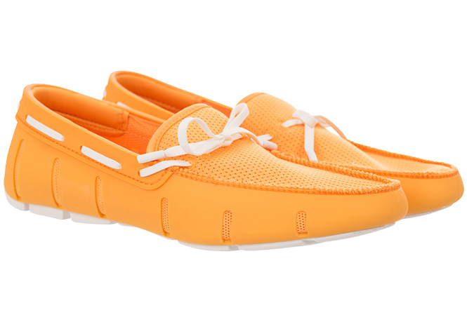 Swims Lace Loafers Mandarine/White