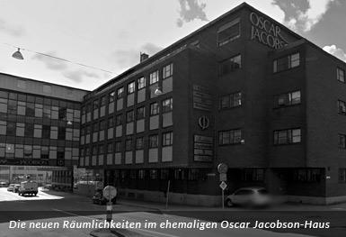 Die neuen Räumlichkeiten im ehemaligen Oscar Jacobson-haus
