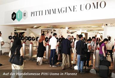 Auf der Handelsmesse Pitti Uomo in Florenz