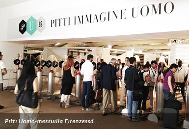 Muotitapahtumassa Pitti Uomo Firenzessä