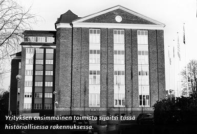 Wiskadal - Yrityksen ensimmäiset toimitilat