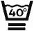 40 graders maskintvätt i halv maskin på skonsamt program.
